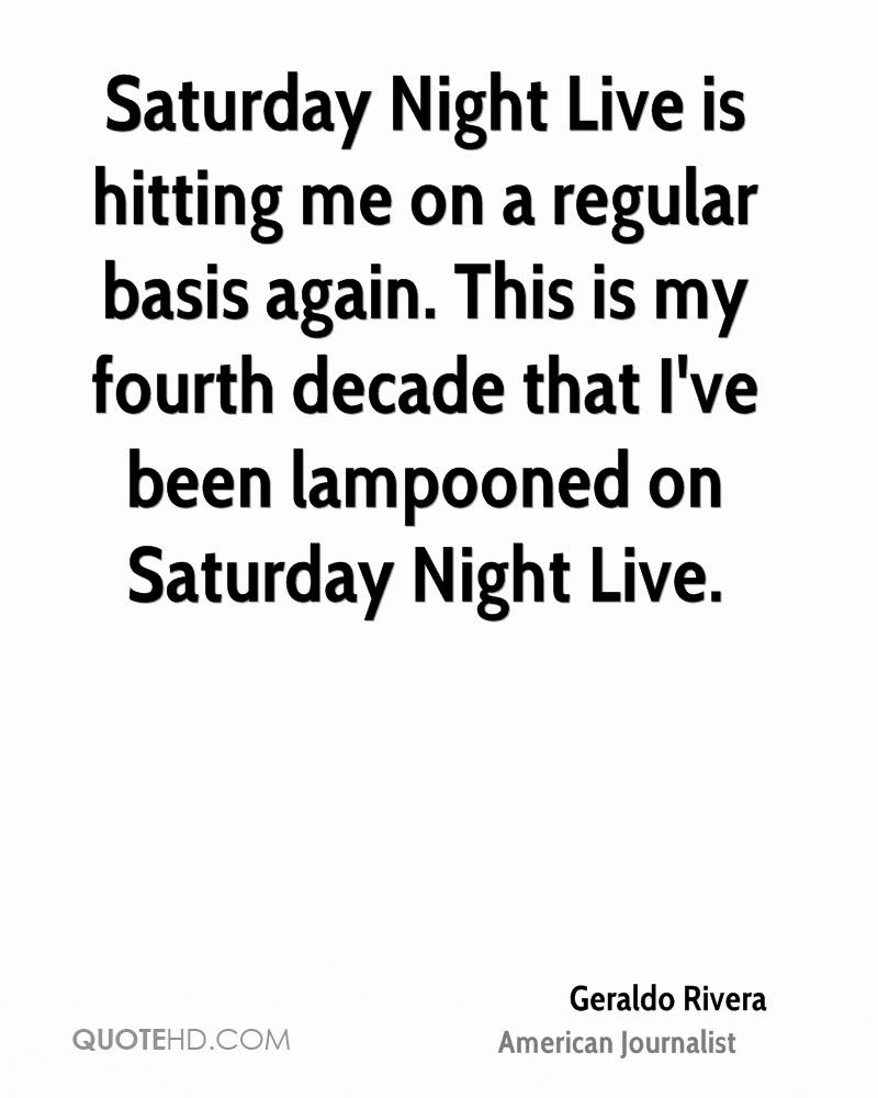 Saturday Night Live is hitting me on a regular basis again. This is my fourth decade that I've been lampooned on Saturday Night Live.