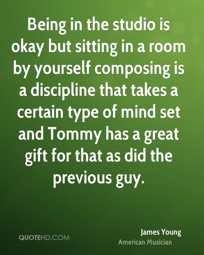 Being in the studio is okay but sitting in a room by yourself composing is a discipline that takes a certain type of mind set and Tommy has a great gift for that as did the previous guy.