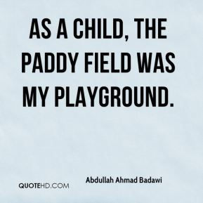 As a child, the paddy field was my playground.