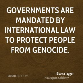 Governments are mandated by international law to protect people from genocide.
