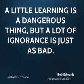 A little knowledge can be a dangerous thing Essay