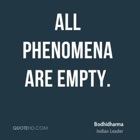 All phenomena are empty.