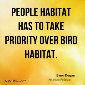 People habitat has to take priority over bird habitat.