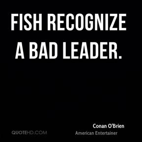 Fish recognize a bad leader.