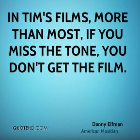 In Tim's films, more than most, if you miss the tone, you don't get the film.