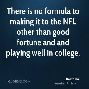 There is no formula to making it to the NFL other than good fortune and and playing well in college.