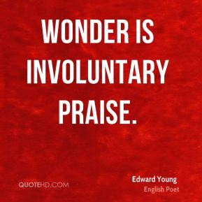 Wonder is involuntary praise.