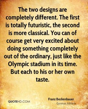 The two designs are completely different. The first is totally futuristic, the second is more classical. You can of course get very excited about doing something completely out of the ordinary, just like the Olympic stadium in its time. But each to his or her own taste.