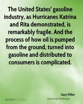 The United States' gasoline industry, as Hurricanes Katrina and Rita demonstrated, is remarkably fragile. And the process of how oil is pumped from the ground, turned into gasoline and distributed to consumers is complicated.
