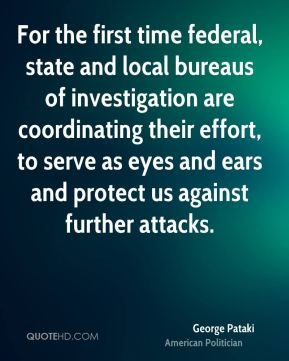 For the first time federal, state and local bureaus of investigation are coordinating their effort, to serve as eyes and ears and protect us against further attacks.