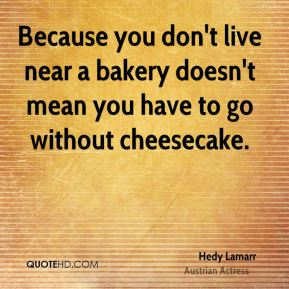 Because you don't live near a bakery doesn't mean you have to go without cheesecake.