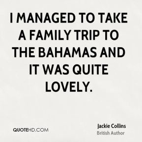 I managed to take a family trip to the Bahamas and it was quite lovely.