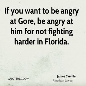 If you want to be angry at Gore, be angry at him for not fighting harder in Florida.