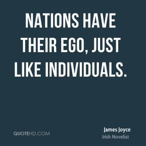 Nations have their ego, just like individuals.