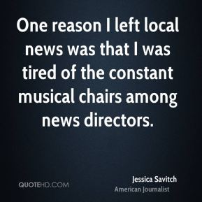 One reason I left local news was that I was tired of the constant musical chairs among news directors.