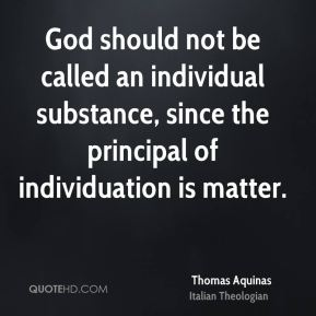 God should not be called an individual substance, since the principal of individuation is matter.