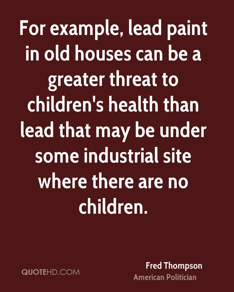 Childrens health: a selection of quotes
