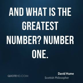 And what is the greatest number? Number one.