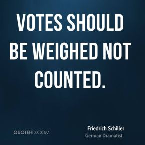 Votes should be weighed not counted.