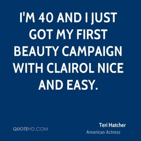 I'm 40 and I just got my first beauty campaign with Clairol Nice and Easy.