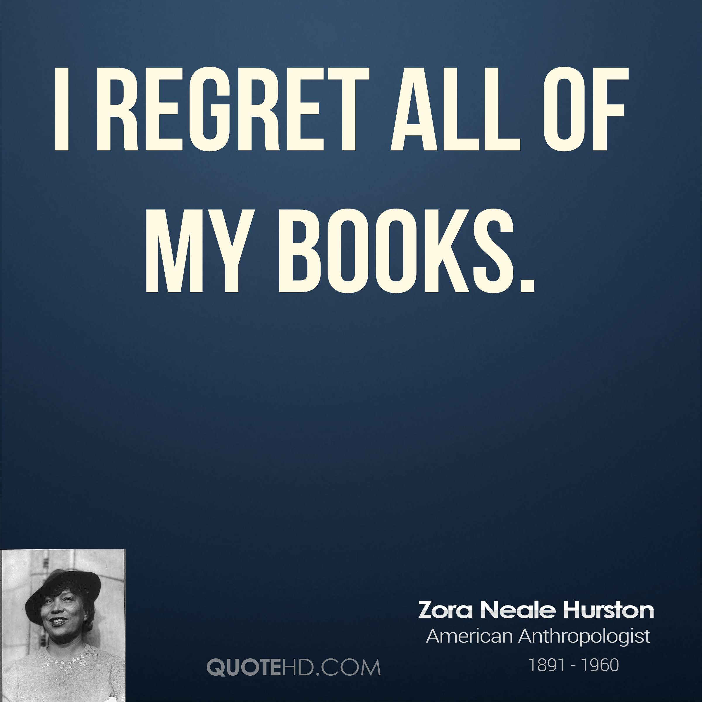 I regret all of my books.