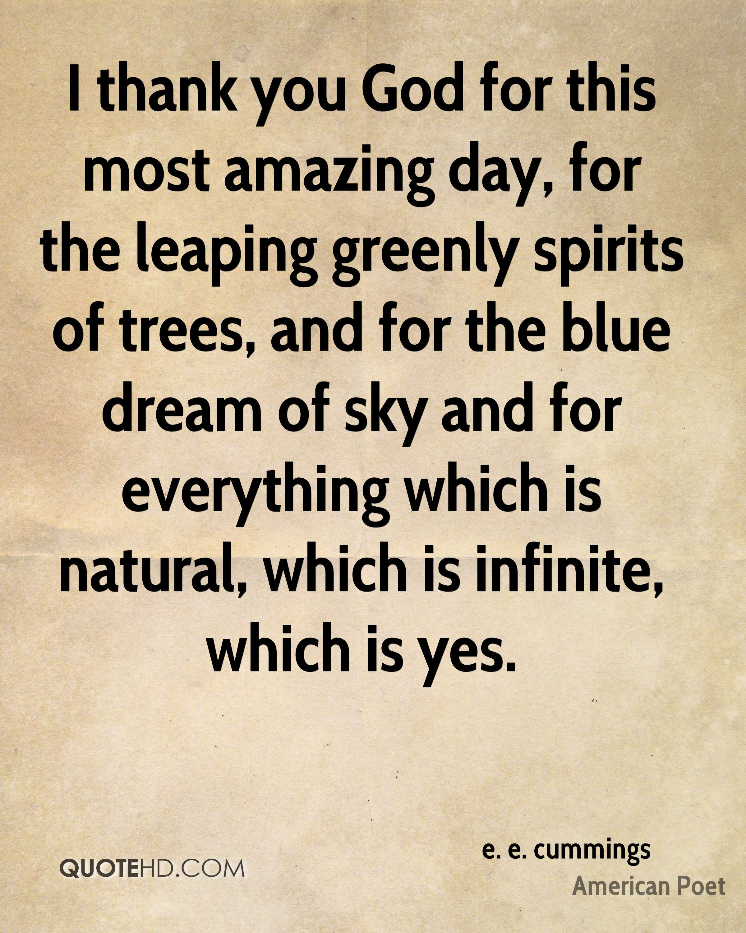 E E Cummings Nature Quotes Quotehd