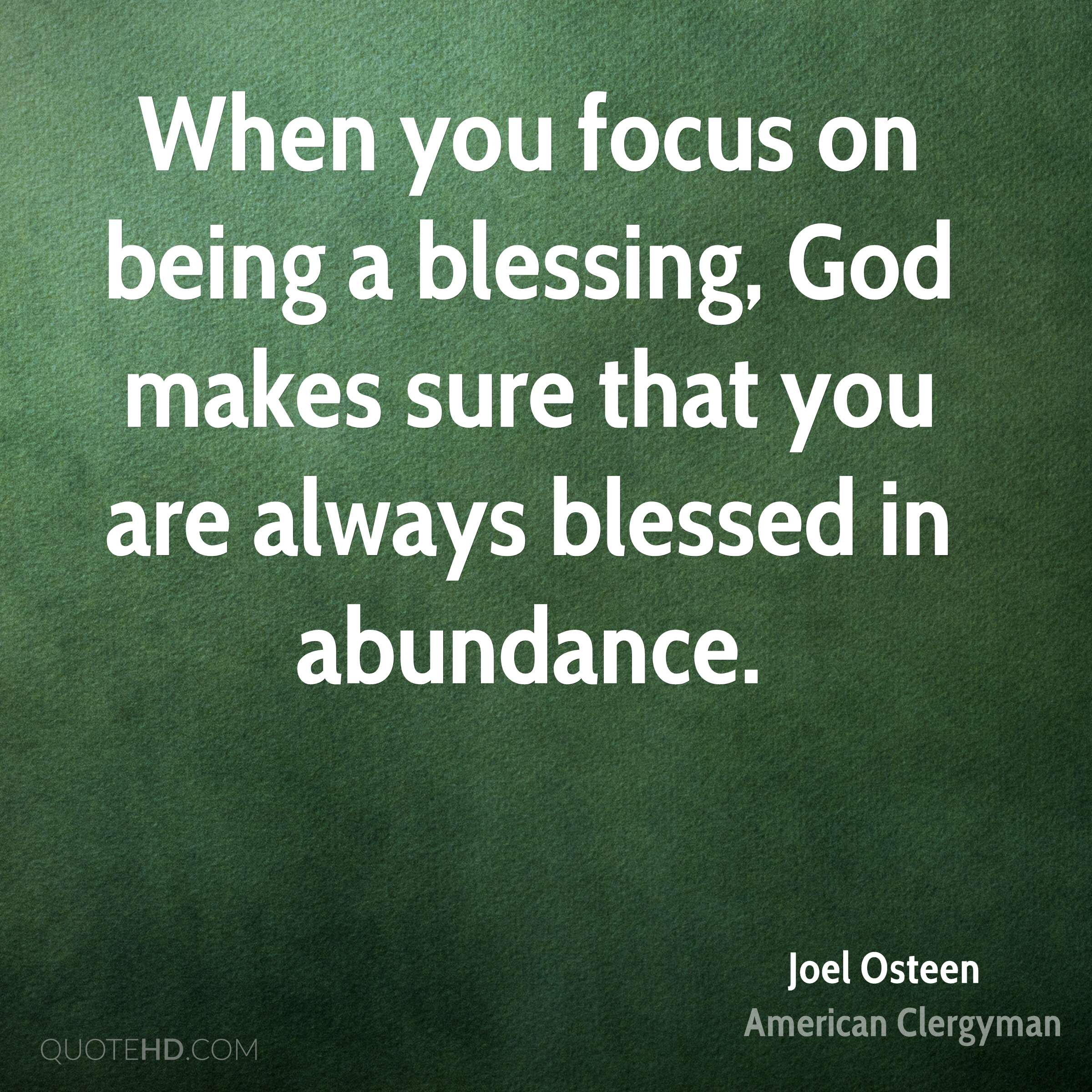 You Are A Blessing Quotes Joel Osteen Faith Quotes  Quotehd