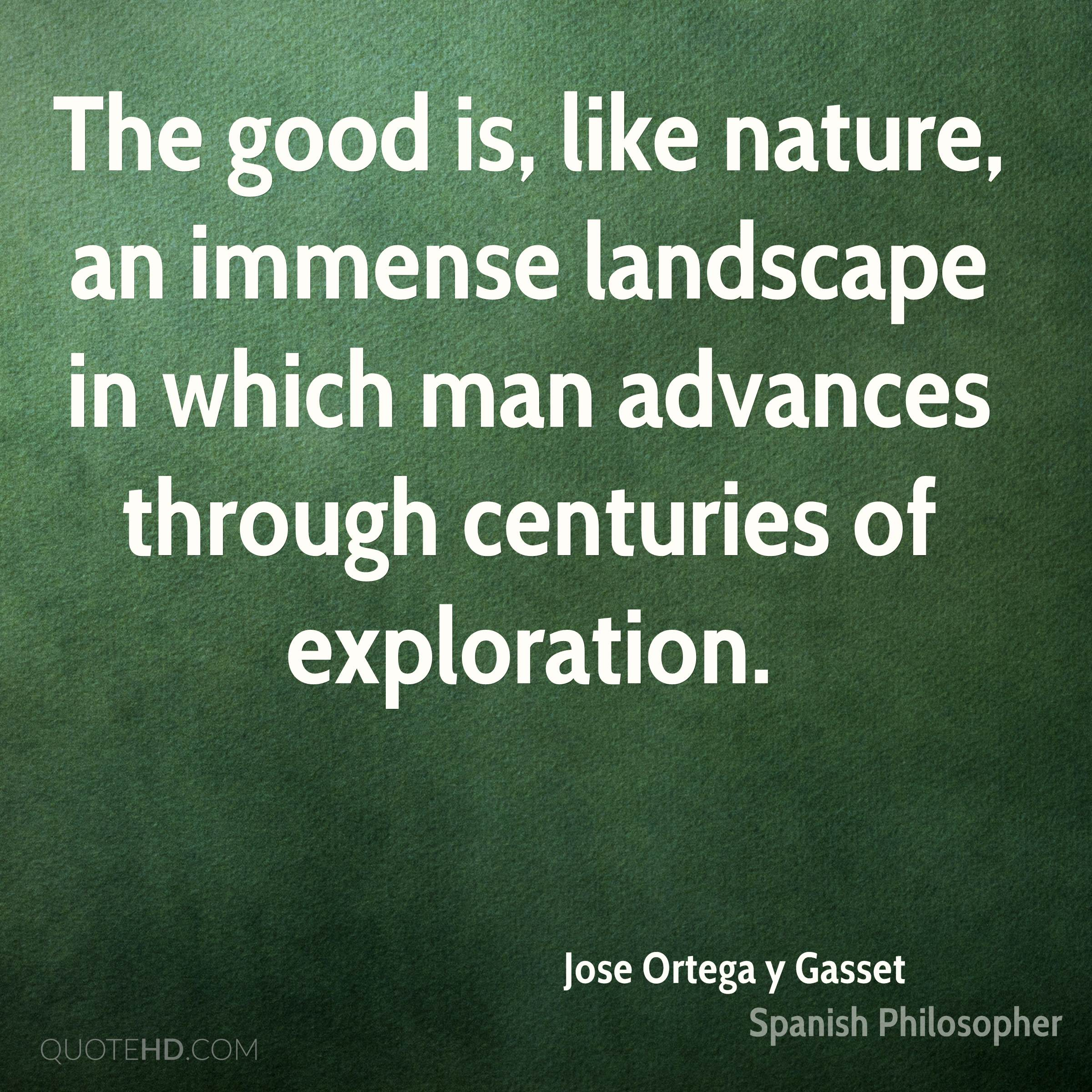 Quotes About Landscape Jose Ortega Y Gasset Nature Quotes  Quotehd