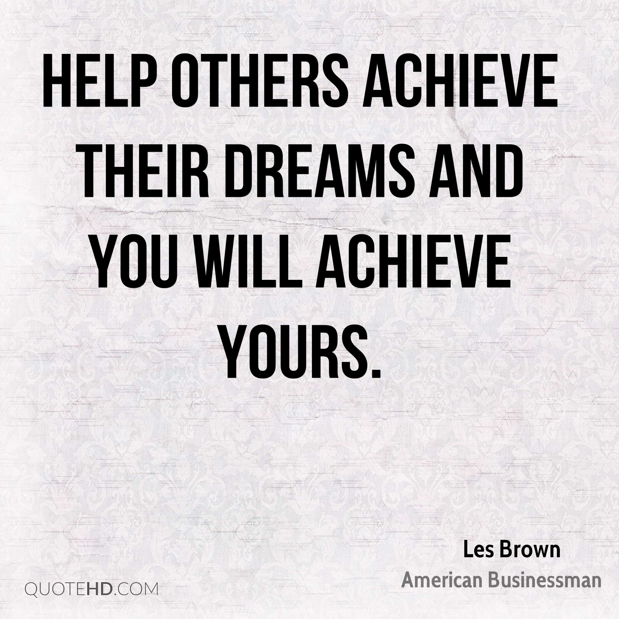 Les Brown Dreams Quotes Quotehd