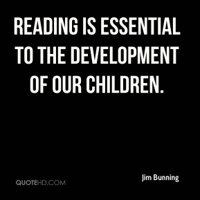 reading is essential to the development of our children.