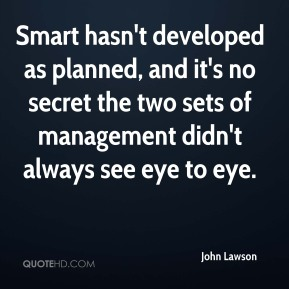 Smart hasn't developed as planned, and it's no secret the two sets of management didn't always see eye to eye.