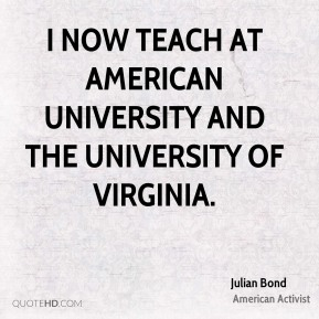 I now teach at American University and the University of Virginia.