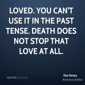 Loved. You can't use it in the past tense. Death does not stop that love at all.