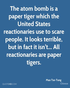 the united nations paper tiger essay Bhutan joined the united nations in 1971 it was the first country to recognize bangladesh's independence in 1971 it became a founding member of the south asian association for regional cooperation ( saarc ) in 1985.