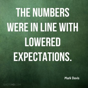 The numbers were in line with lowered expectations.