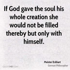 God awaits you meister eckhart