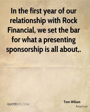 In the first year of our relationship with Rock Financial, we set the bar for what a presenting sponsorship is all about.