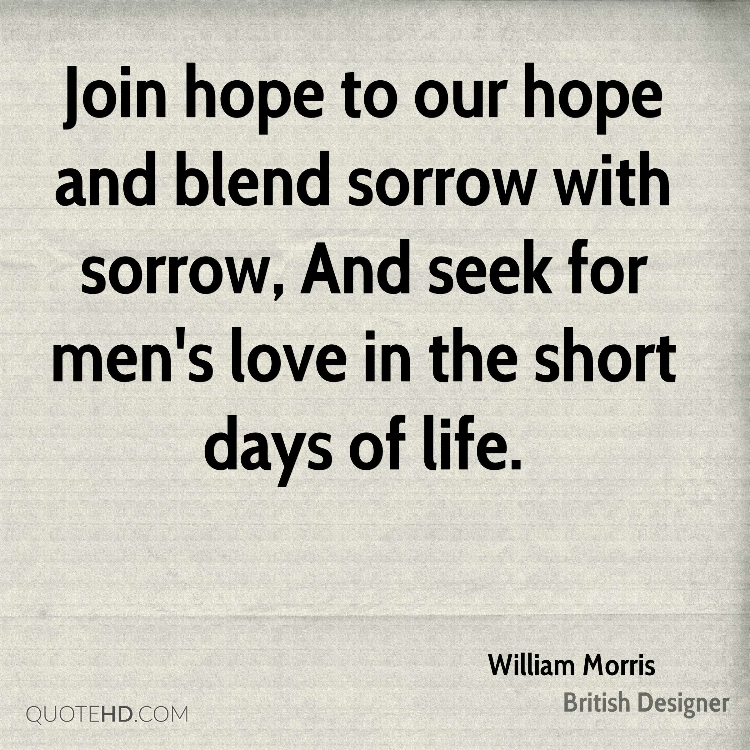 Quotes Hope William Morris Quotes  Quotehd