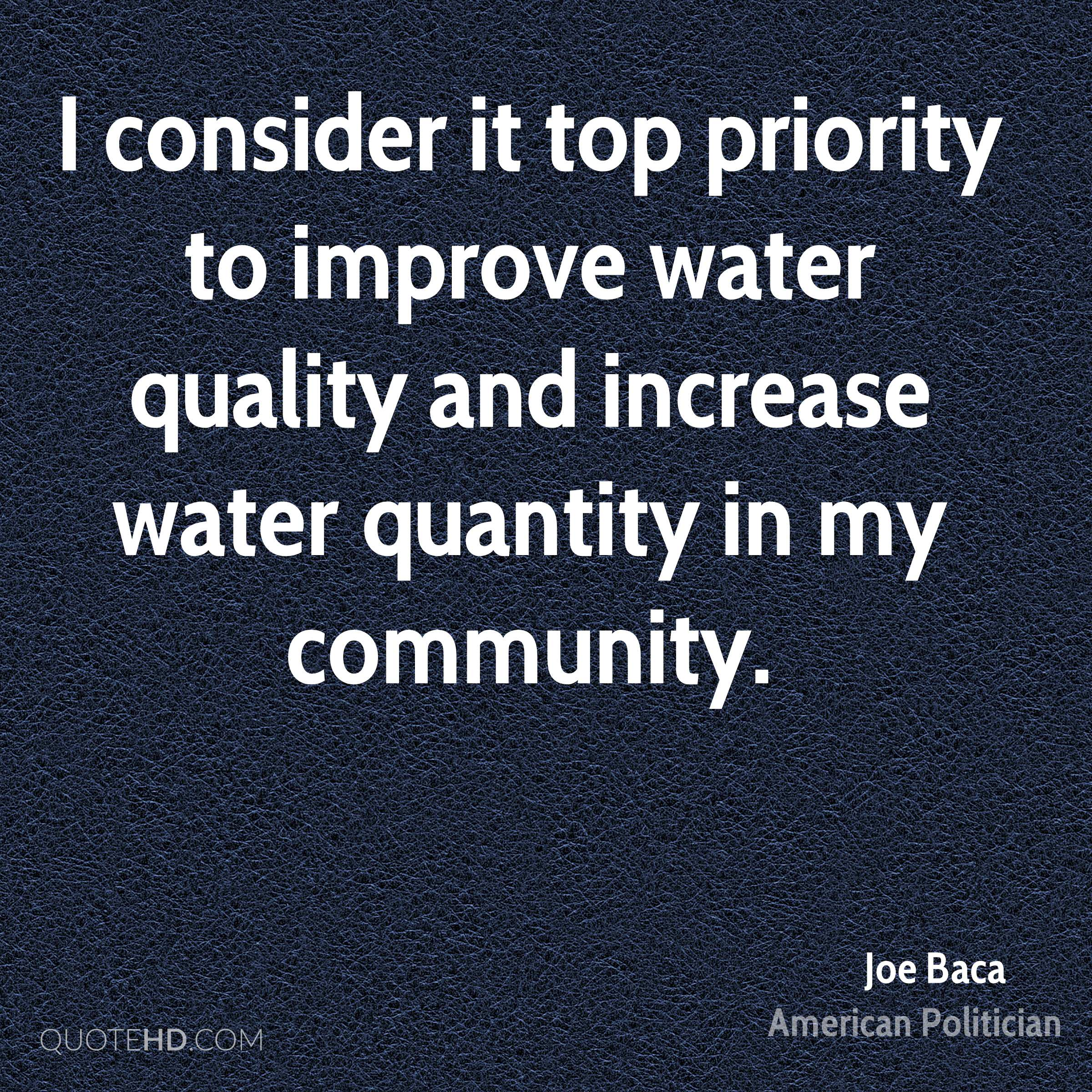 Quotes About Water Joe Baca Quotes  Quotehd