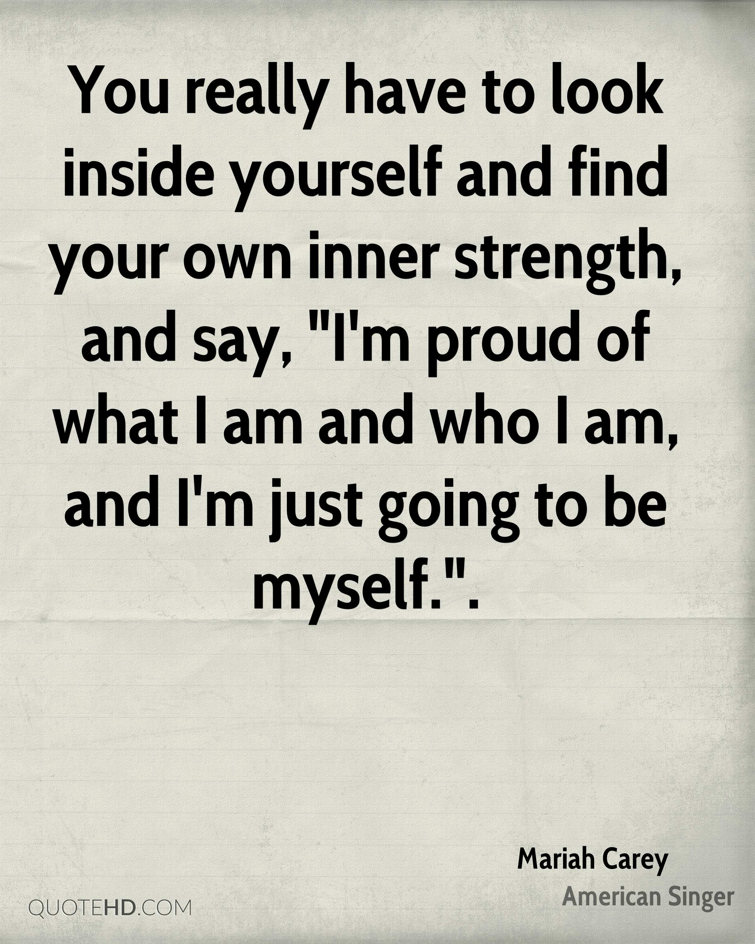 Finding Inner Strength Quotes: Mariah Carey Quotes