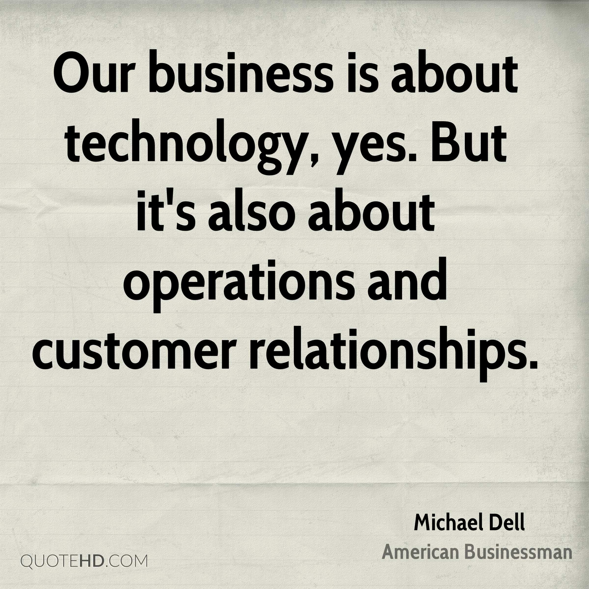Quotes On Technology Amazing Michael Dell Technology Quotes  Quotehd