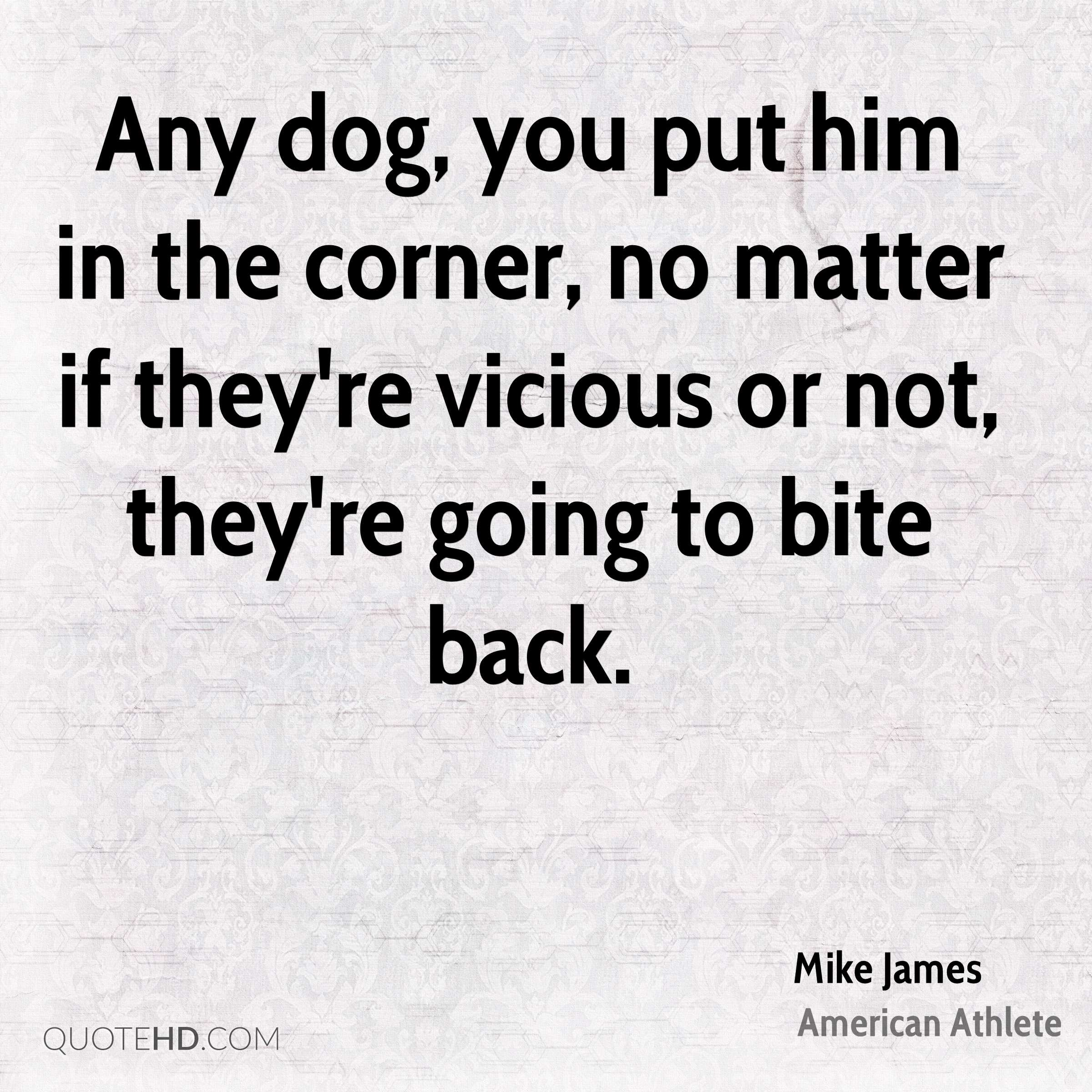 Bite Quotes: Mike James Quotes