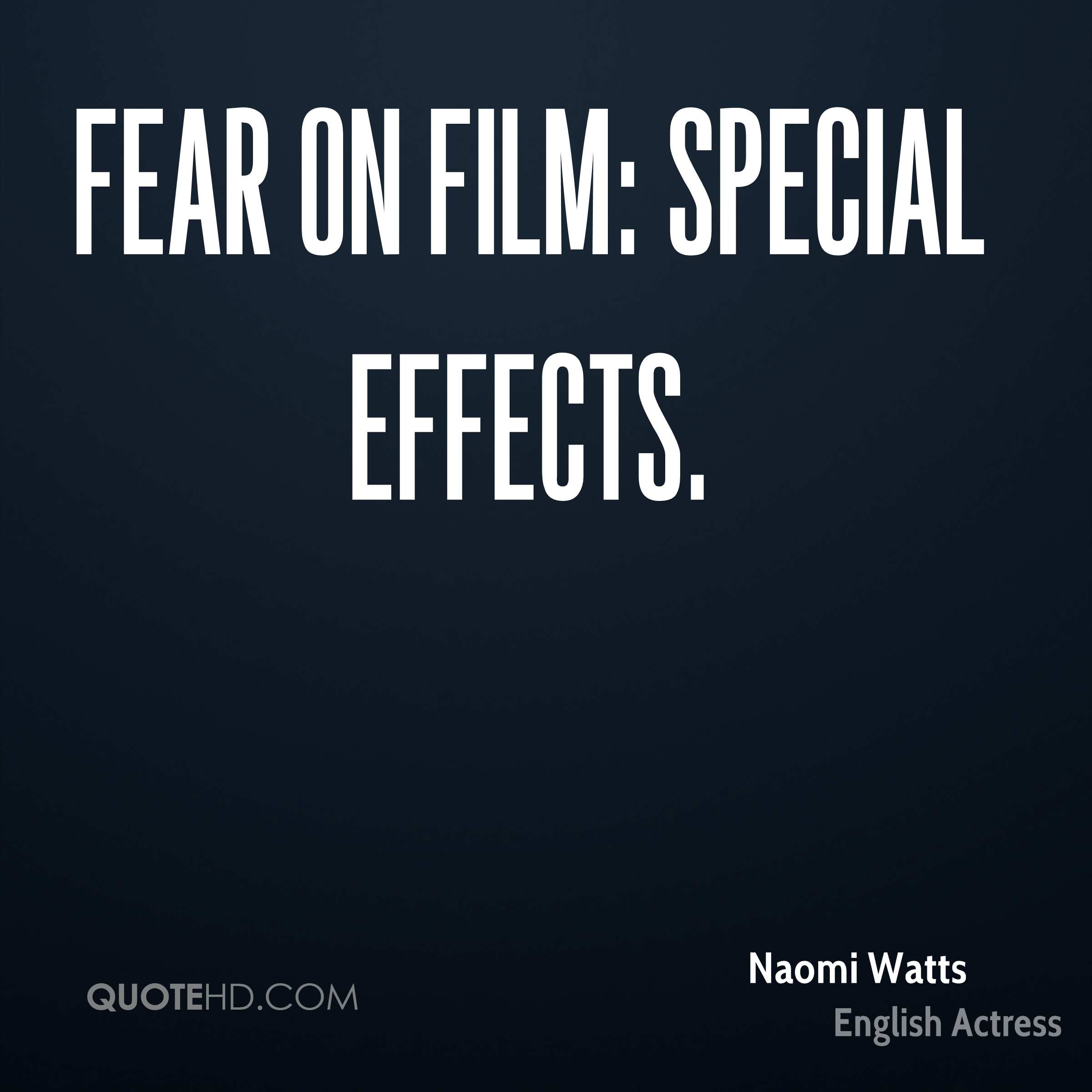 Fear on Film: Special Effects.