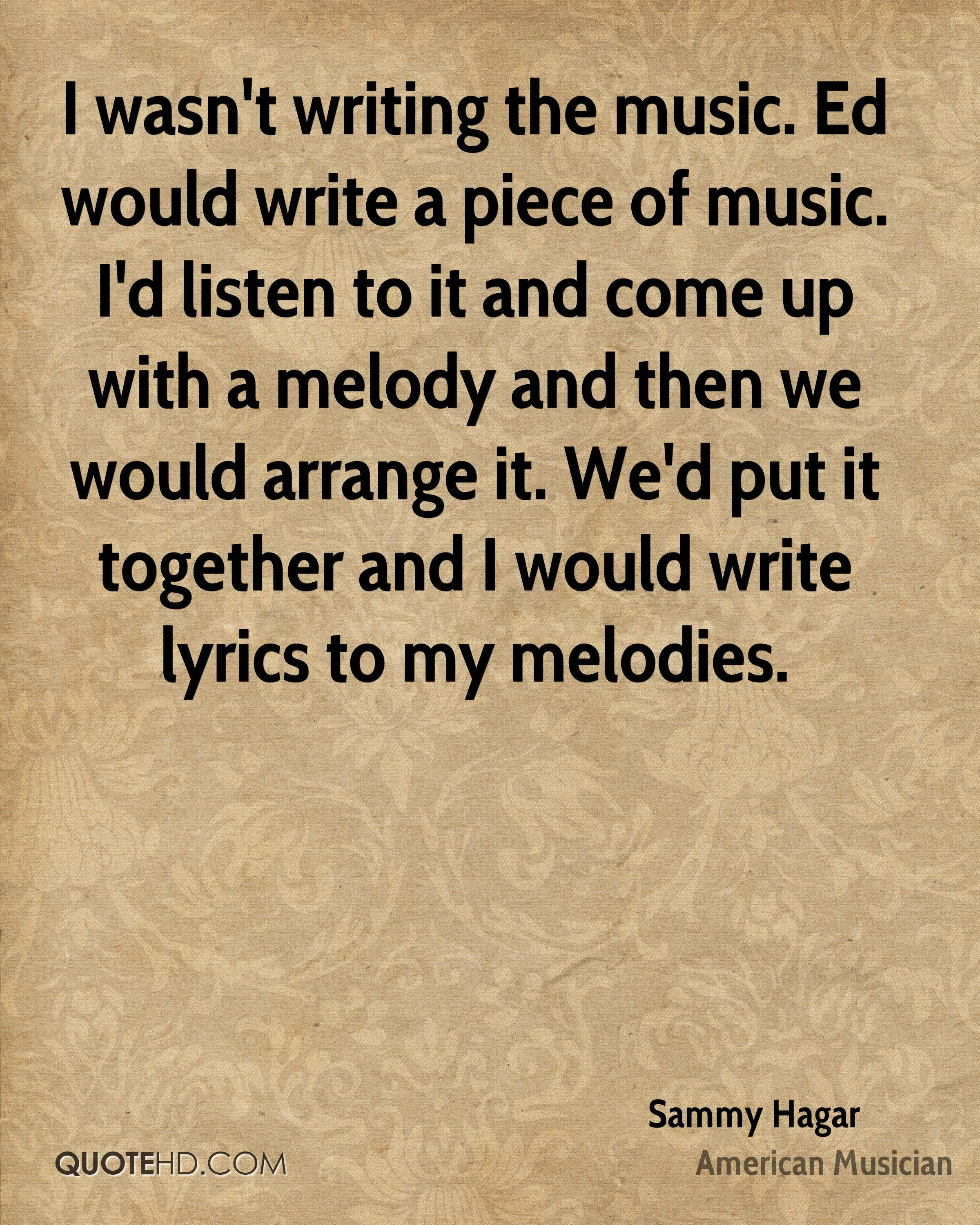 writing lyrics to music Write the lyrics for your song many musicians write their own melodies as well as the lyrics if you already have lyrics, consider them when writing your melody some questions to ask yourself before composing the music are: what words do i want to focus on.