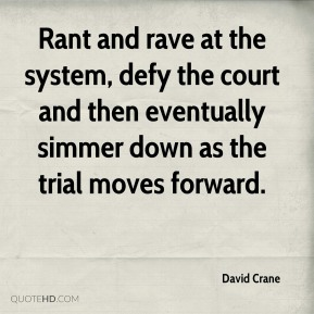 Rant and rave at the system, defy the court and then eventually simmer down as the trial moves forward.