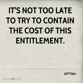 It's not too late to try to contain the cost of this entitlement.