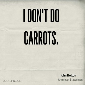 I don't do carrots.