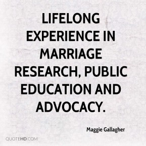 lifelong experience in marriage research, public education and advocacy.