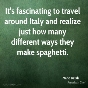 It's fascinating to travel around Italy and realize just how many different ways they make spaghetti.