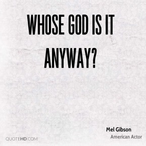 Whose God Is It Anyway?